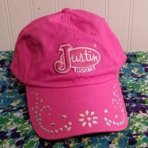Justin Boots Hot Pink Bling Snapback